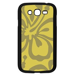 Flower Gray Yellow Samsung Galaxy Grand Duos I9082 Case (black)