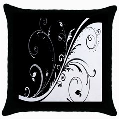 Flower Black White Throw Pillow Case (black) by Jojostore