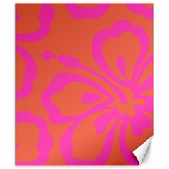 Flower Pink Orange Canvas 20  X 24