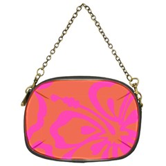 Flower Pink Orange Chain Purses (one Side)  by Jojostore