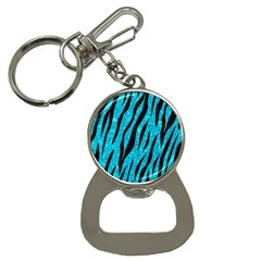 Skin3 Black Marble & Turquoise Marble (r) Bottle Opener Key Chain by trendistuff