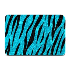 Skin3 Black Marble & Turquoise Marble (r) Plate Mat by trendistuff