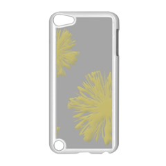 Flower Yellow Gray Apple Ipod Touch 5 Case (white)