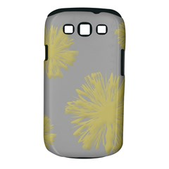 Flower Yellow Gray Samsung Galaxy S Iii Classic Hardshell Case (pc+silicone) by Jojostore