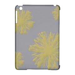 Flower Yellow Gray Apple Ipad Mini Hardshell Case (compatible With Smart Cover) by Jojostore