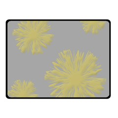 Flower Yellow Gray Double Sided Fleece Blanket (small)