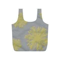 Flower Yellow Gray Full Print Recycle Bags (s)  by Jojostore
