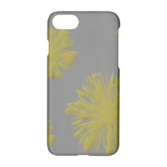 Flower Yellow Gray Apple Iphone 7 Hardshell Case by Jojostore