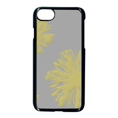 Flower Yellow Gray Apple Iphone 7 Seamless Case (black) by Jojostore