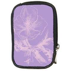 Flower Purple Gray Compact Camera Cases by Jojostore