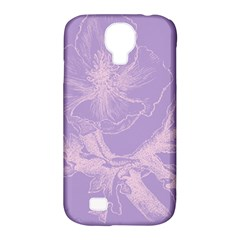 Flower Purple Gray Samsung Galaxy S4 Classic Hardshell Case (pc+silicone)