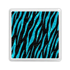 Skin3 Black Marble & Turquoise Marble Memory Card Reader (square) by trendistuff