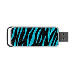 Skin3 Black Marble & Turquoise Marble Portable Usb Flash (one Side)