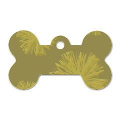 Flower Yelow Dog Tag Bone (one Side)