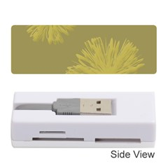 Flower Yelow Memory Card Reader (stick)  by Jojostore