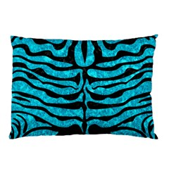 Skin2 Black Marble & Turquoise Marble (r) Pillow Case (two Sides) by trendistuff