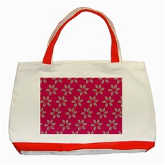 Flowers Green Light On Fushia Classic Tote Bag (red)
