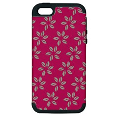 Flowers Green Light On Fushia Apple Iphone 5 Hardshell Case (pc+silicone)