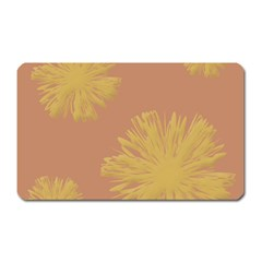 Flower Yellow Brown Magnet (rectangular) by Jojostore
