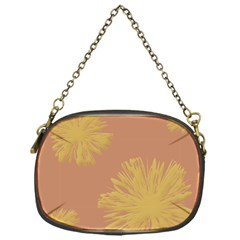 Flower Yellow Brown Chain Purses (one Side)  by Jojostore