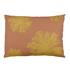 Flower Yellow Brown Pillow Case