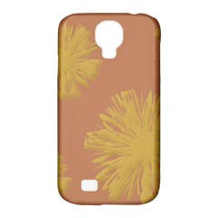 Flower Yellow Brown Samsung Galaxy S4 Classic Hardshell Case (pc+silicone) by Jojostore