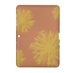 Flower Yellow Brown Samsung Galaxy Tab 2 (10 1 ) P5100 Hardshell Case  by Jojostore