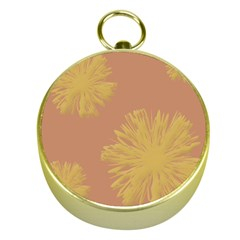 Flower Yellow Brown Gold Compasses by Jojostore