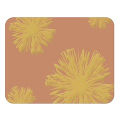 Flower Yellow Brown Double Sided Flano Blanket (large)  by Jojostore