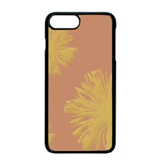 Flower Yellow Brown Apple Iphone 7 Plus Seamless Case (black)