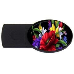 Flowers Bouquet Usb Flash Drive Oval (4 Gb)  by Jojostore