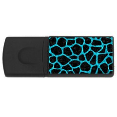 Skin1 Black Marble & Turquoise Marble (r) Usb Flash Drive Rectangular (4 Gb) by trendistuff