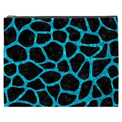 Skin1 Black Marble & Turquoise Marble (r) Cosmetic Bag (xxxl) by trendistuff