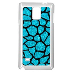 Skin1 Black Marble & Turquoise Marble Samsung Galaxy Note 4 Case (white) by trendistuff