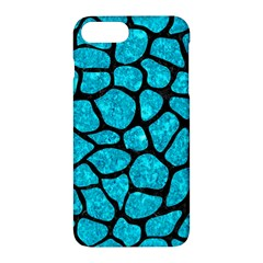 Skin1 Black Marble & Turquoise Marble Apple Iphone 7 Plus Hardshell Case