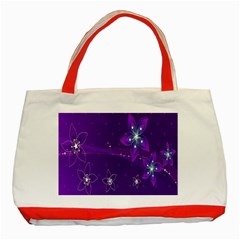 Flowers Purple Classic Tote Bag (red)