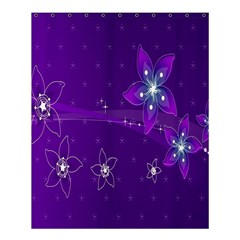 Flowers Purple Shower Curtain 60  X 72  (medium)  by Jojostore