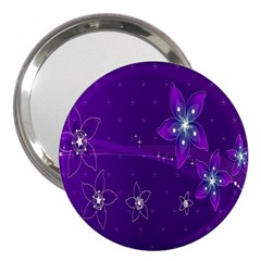 Flowers Purple 3  Handbag Mirrors by Jojostore