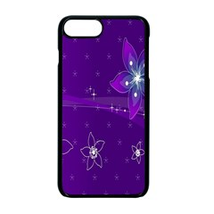 Flowers Purple Apple Iphone 7 Plus Seamless Case (black) by Jojostore