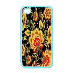 Flower Yellow Green Red Apple Iphone 4 Case (color)