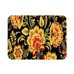 Flower Yellow Green Red Double Sided Flano Blanket (mini)  by Jojostore