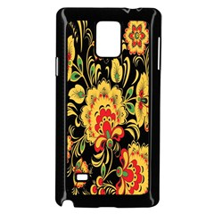 Flower Yellow Green Red Samsung Galaxy Note 4 Case (black)