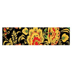Flower Yellow Green Red Satin Scarf (oblong) by Jojostore