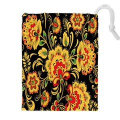Flower Yellow Green Red Drawstring Pouches (xxl) by Jojostore
