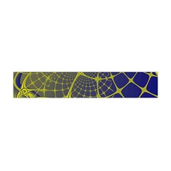 Futuristic Looking Fractal Graphic A Mesh Of Yellow And Blue Rounded Bars Flano Scarf (mini)