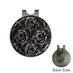 Gray Flower Rose Hat Clips With Golf Markers by Jojostore