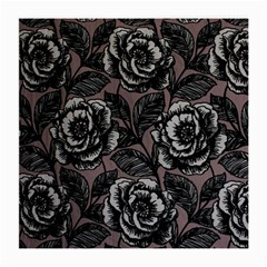 Gray Flower Rose Medium Glasses Cloth (2 Side) by Jojostore