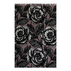 Gray Flower Rose Shower Curtain 48  X 72  (small)  by Jojostore
