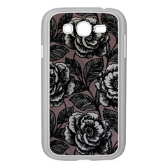 Gray Flower Rose Samsung Galaxy Grand Duos I9082 Case (white) by Jojostore