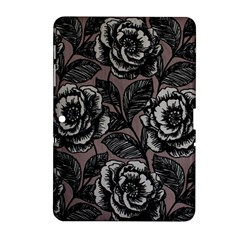 Gray Flower Rose Samsung Galaxy Tab 2 (10 1 ) P5100 Hardshell Case  by Jojostore